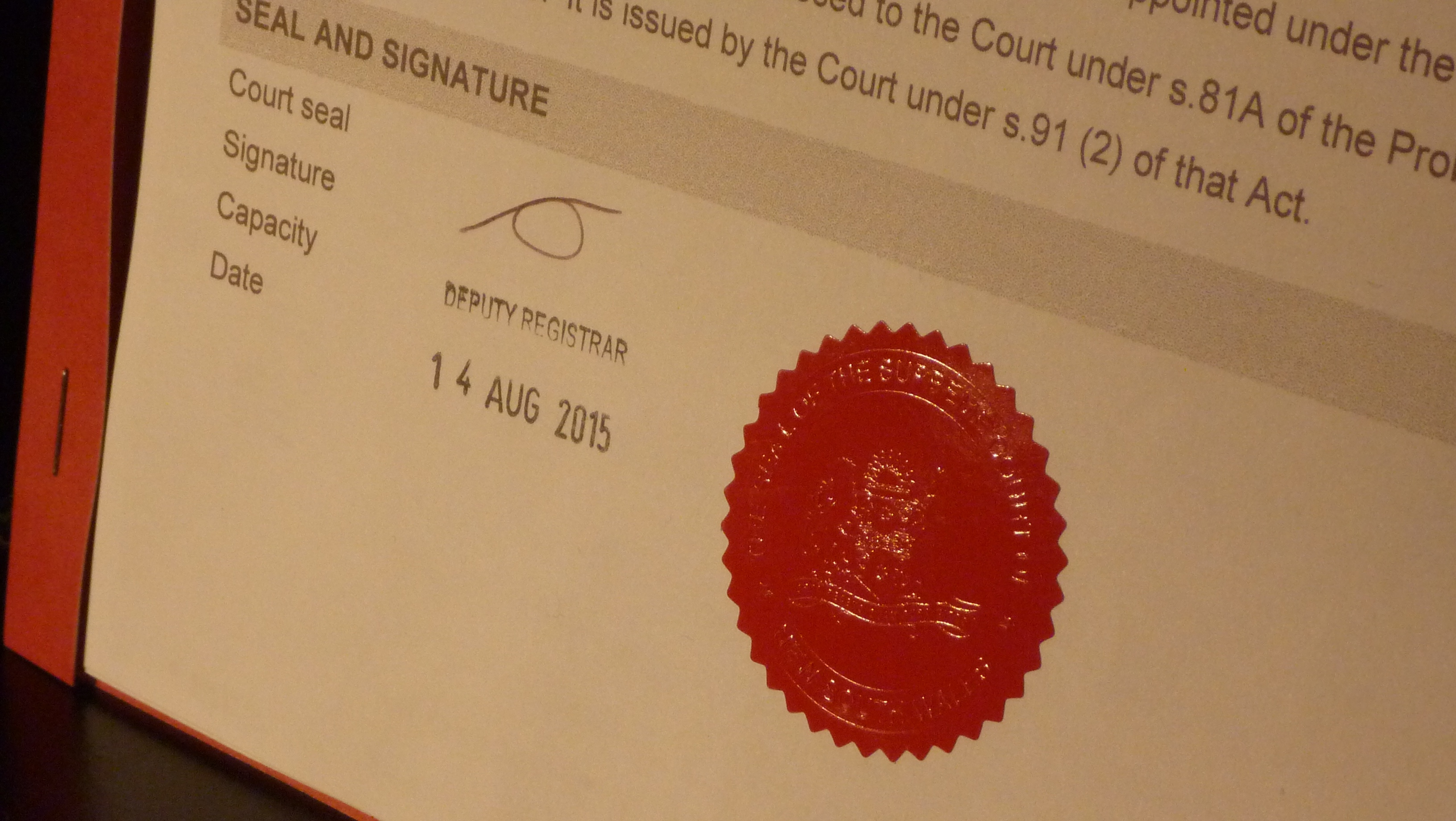 Probate Court Seal